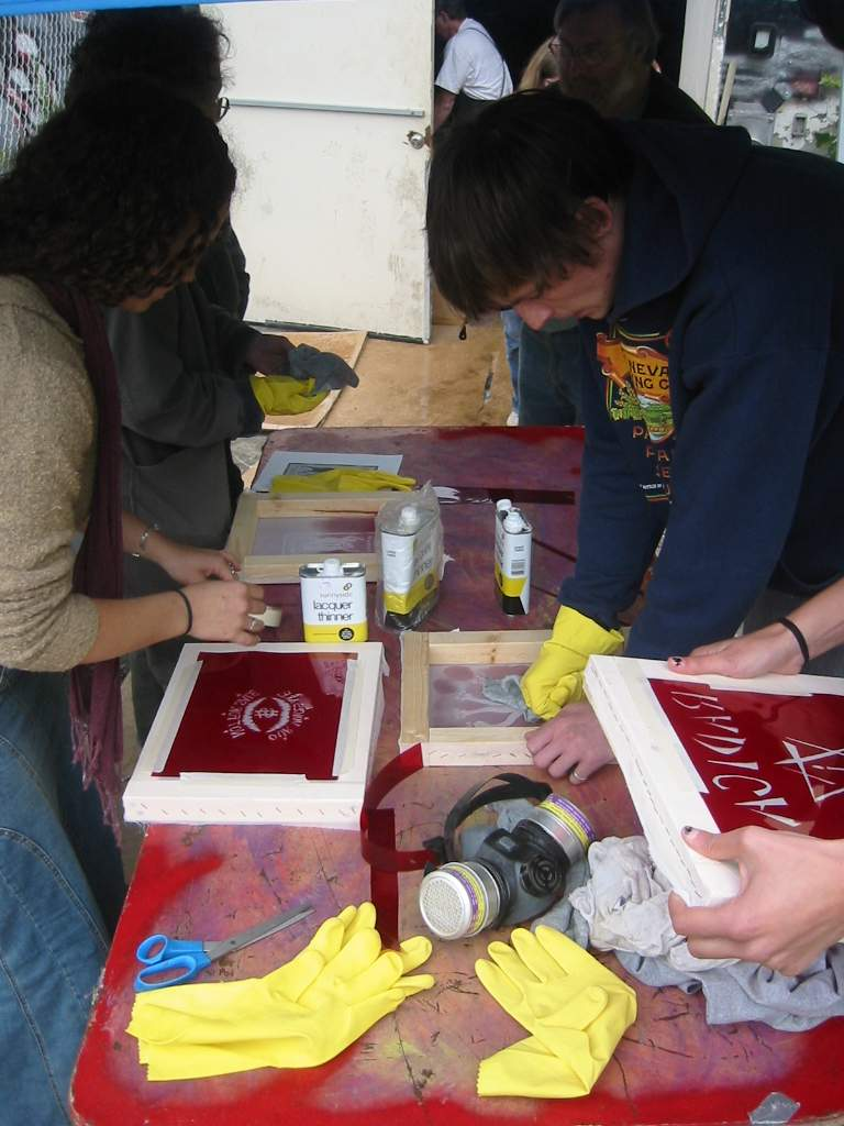 Rubylith Silk Screen Hands-On Workshop, Art of Resistance