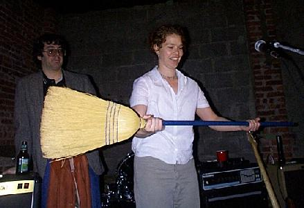 tamzan presents the old irish broom trick as bob deluca looks fondly on